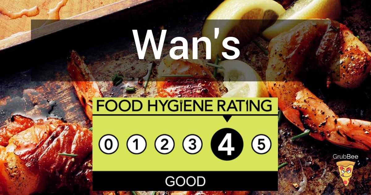 Wans In Kingston Upon Thames Food Hygiene Rating