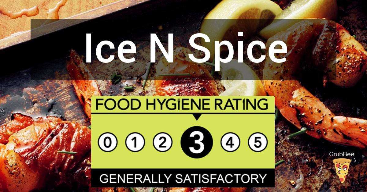 Ice N Spice In Harrow Food Hygiene Rating