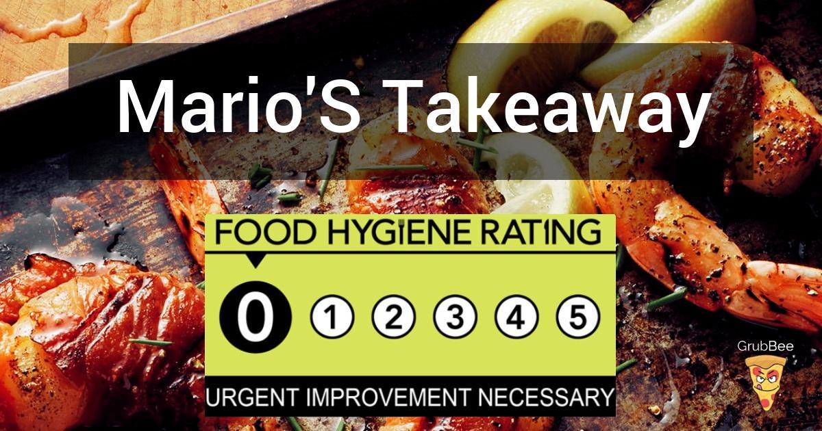 Marios Takeaway In Gosport Food Hygiene Rating