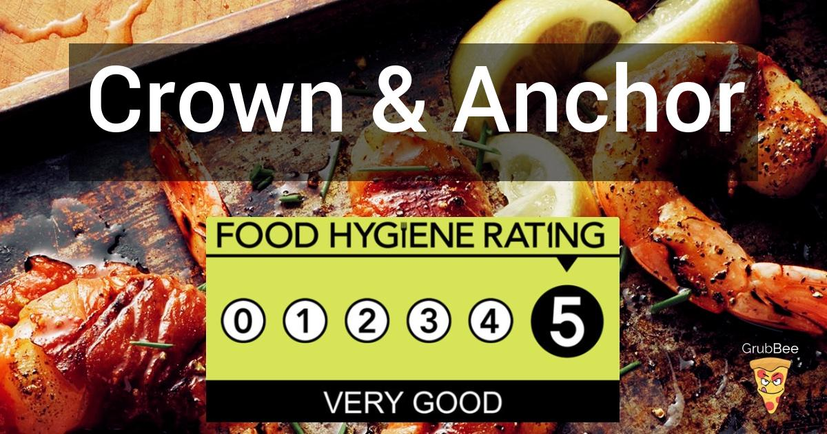 Crown Anchor In Redcar And Cleveland Food Hygiene Rating