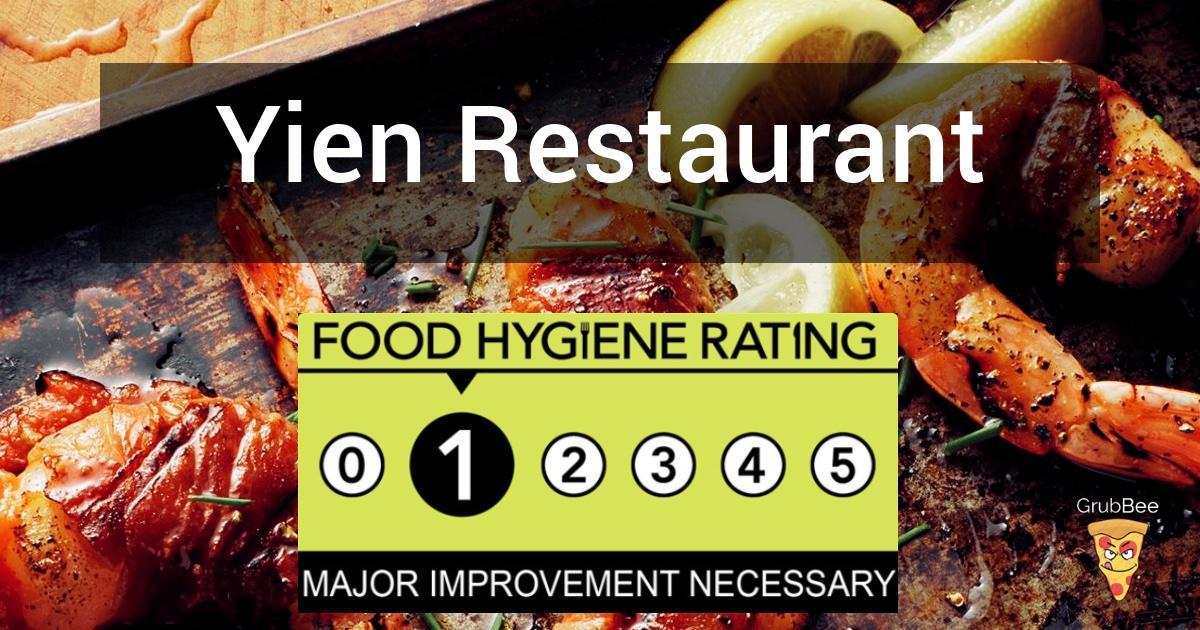 Yien Restaurant In Haringey Food Hygiene Rating