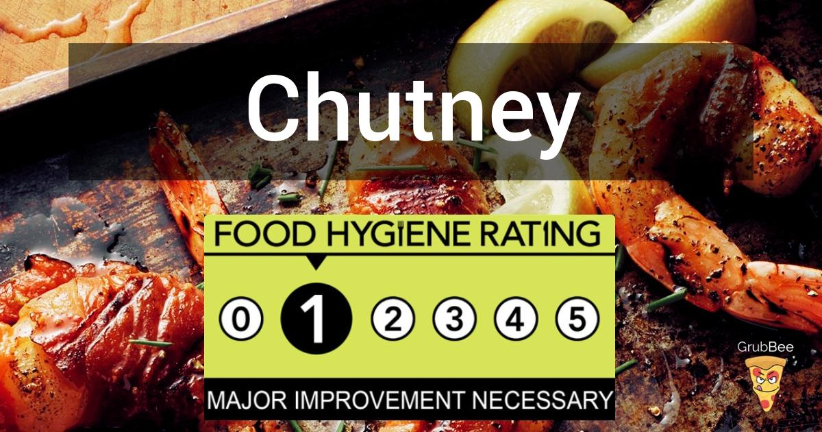 Chutney In Wycombe Food Hygiene Rating
