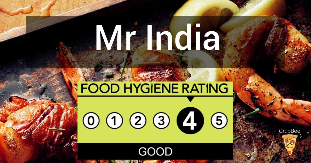 Mr India In Eastbourne Food Hygiene Rating