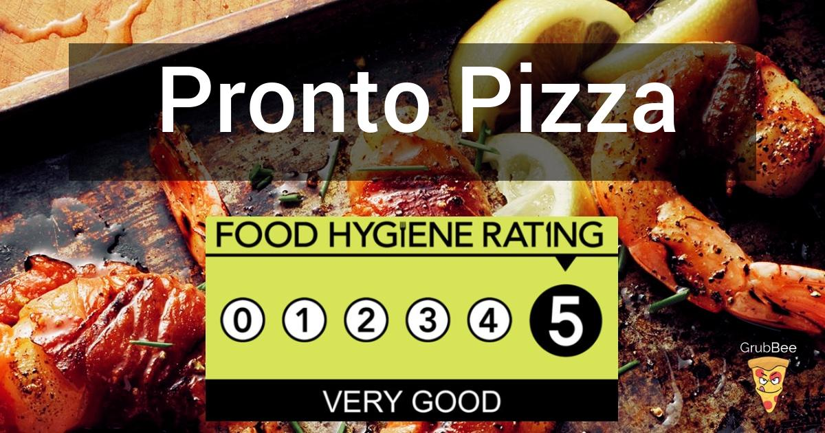 Pronto Pizza In Burnley Food Hygiene Rating