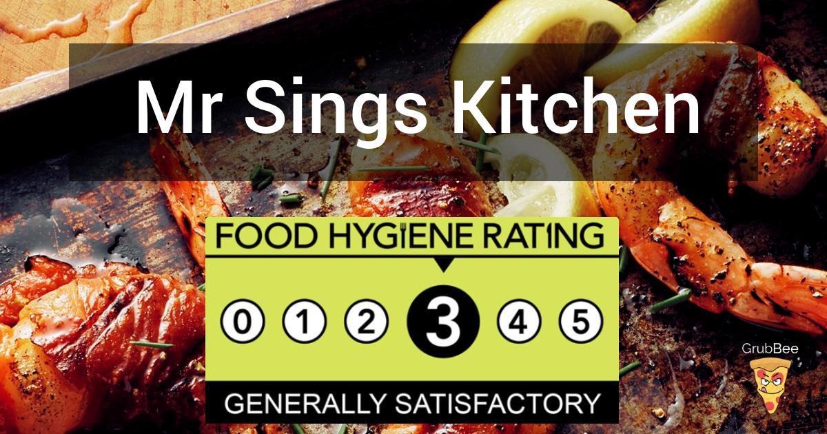 Mr Sings Kitchen In Tewkesbury Food Hygiene Rating
