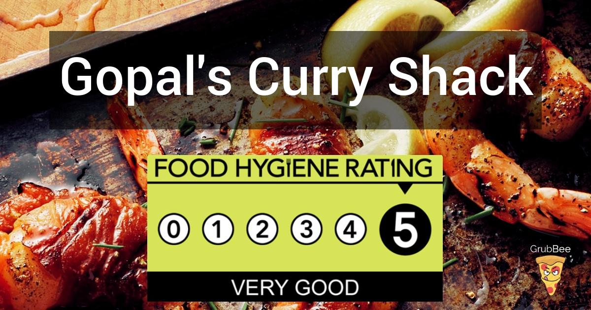 Gopals Curry Shack In Bristol Food Hygiene Rating